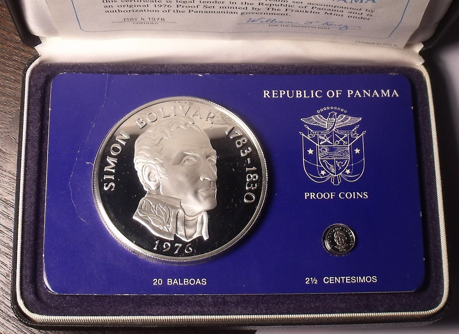 Panama 1//10th Balboa 1974 RARE PROOF~Only 18,000 Minted~Free Shipping