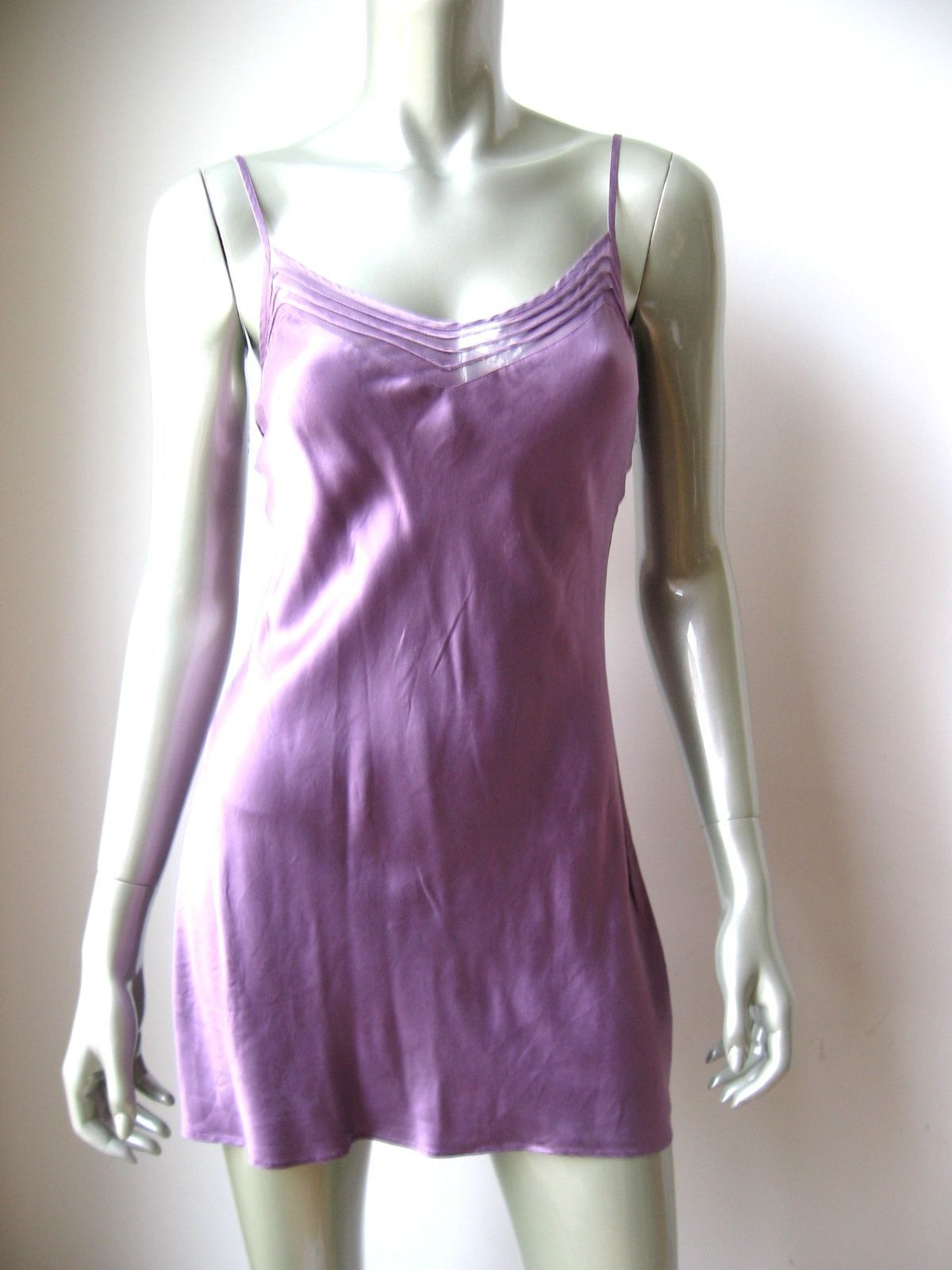 338b2291b6 Victoria s Secret NEW Lilac Pure Silk Sheer Mesh Cup Line Pullover Chemise  XS PR For Sale - Item  1621070