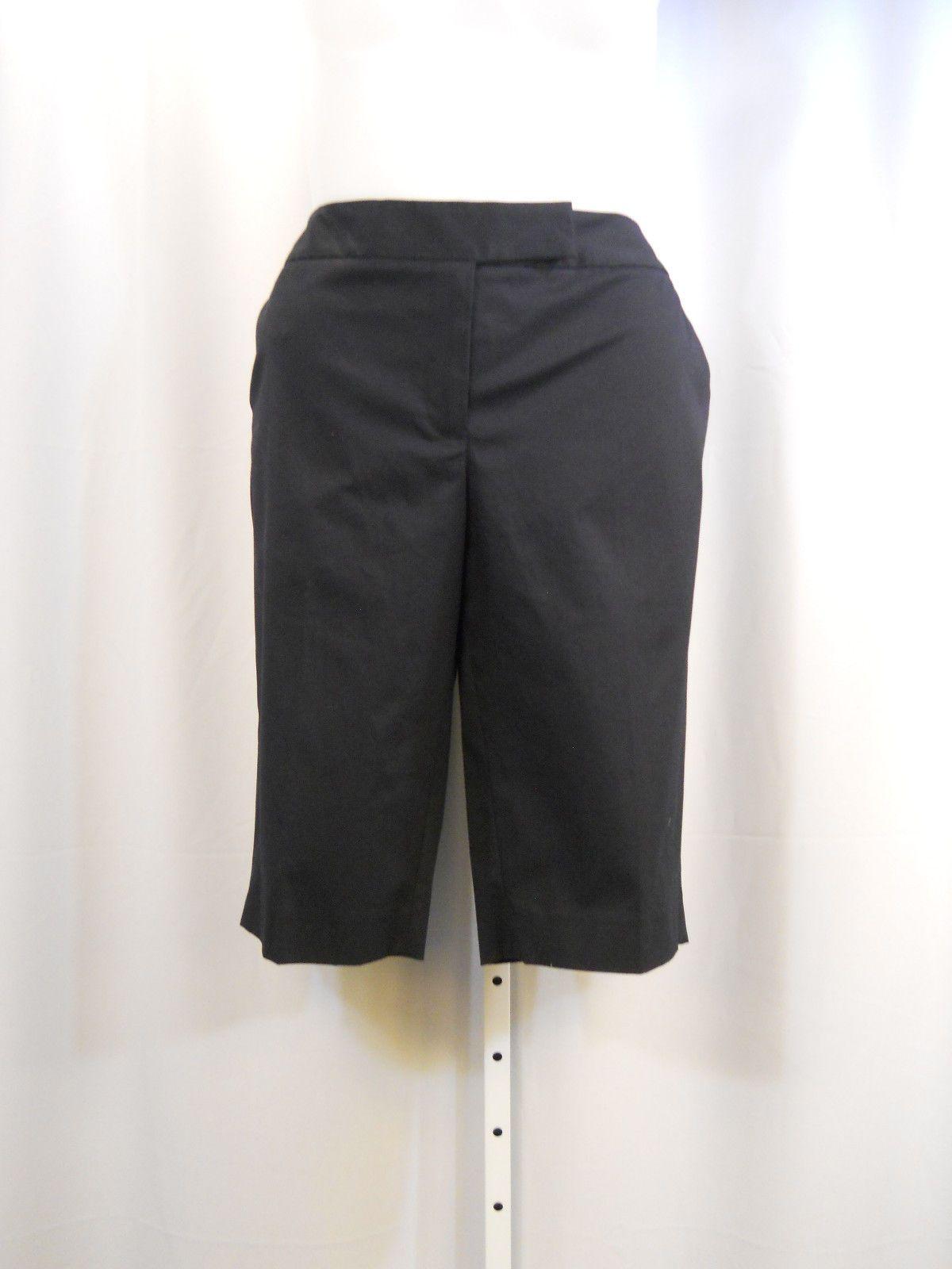 PLUS SIZE 14W Dress Shorts JONES NEW YORK Solid Blue Zip Hook Closure 38X14
