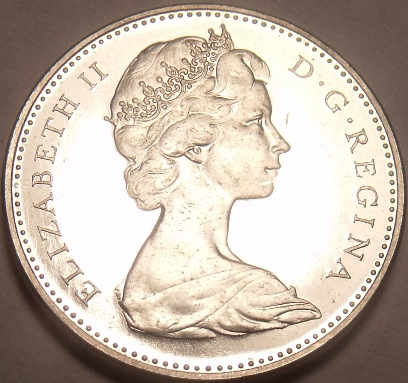 Proof Canada 1966 Beaver Nickel~Proof Coins Are The Mints Best Work~Free Ship