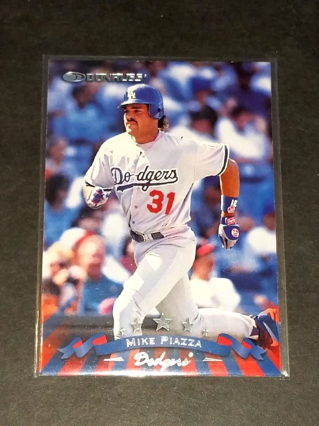 Mlb Mike Piazza Mets Dodgers 1997 Donruss 31 Gd Vg
