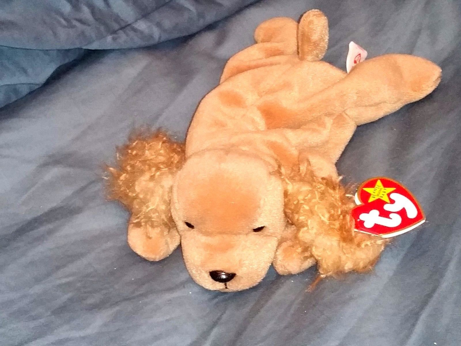 a7c39a0df95 RETRO ORIGINAL TY BEANIE BABY PLUSH SPUNKY DOG COLLECTIBLE NICE For Sale -  Item  1619534