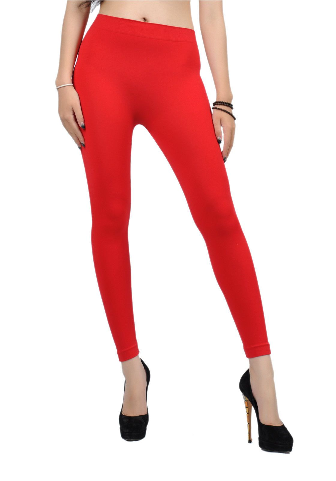 7c423bc075baa4 Soho Girls Comfy Seamless Full Leggings,Red One Size Fits Most, SG-32 For  Sale - Item #1639278