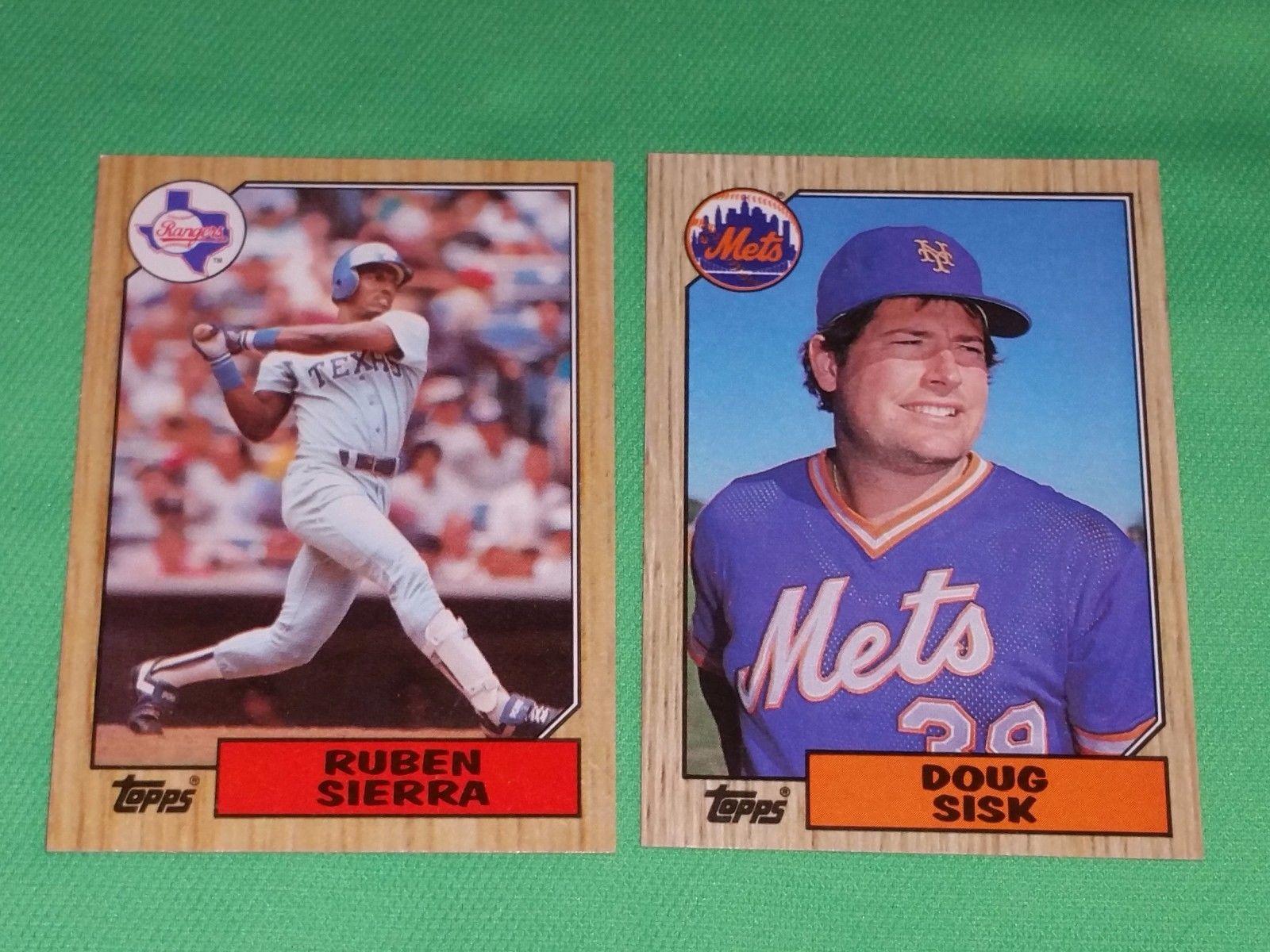 Vintage 1987 Topps Baseball Card Lot 5 Gd Vg