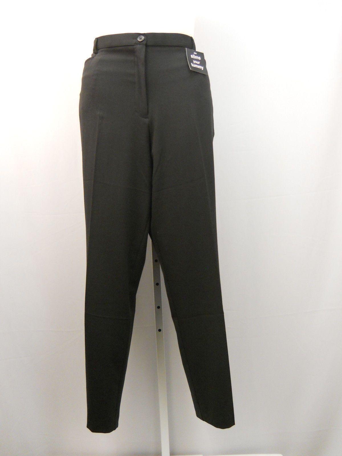 george women�s dress pants plus size 24w solid black tummy