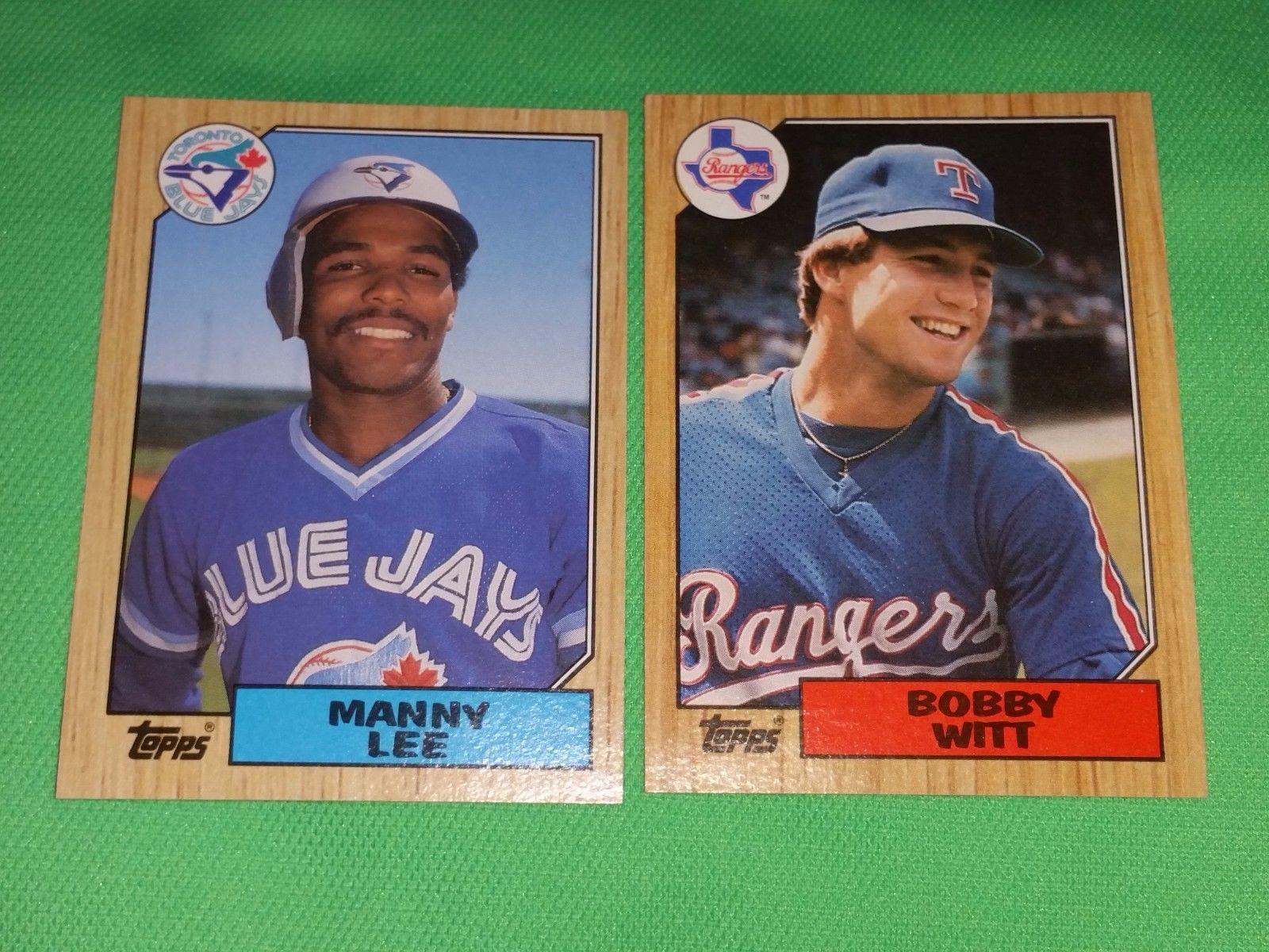 Vintage 1987 Topps Baseball Card Lot 9 Gd Vg
