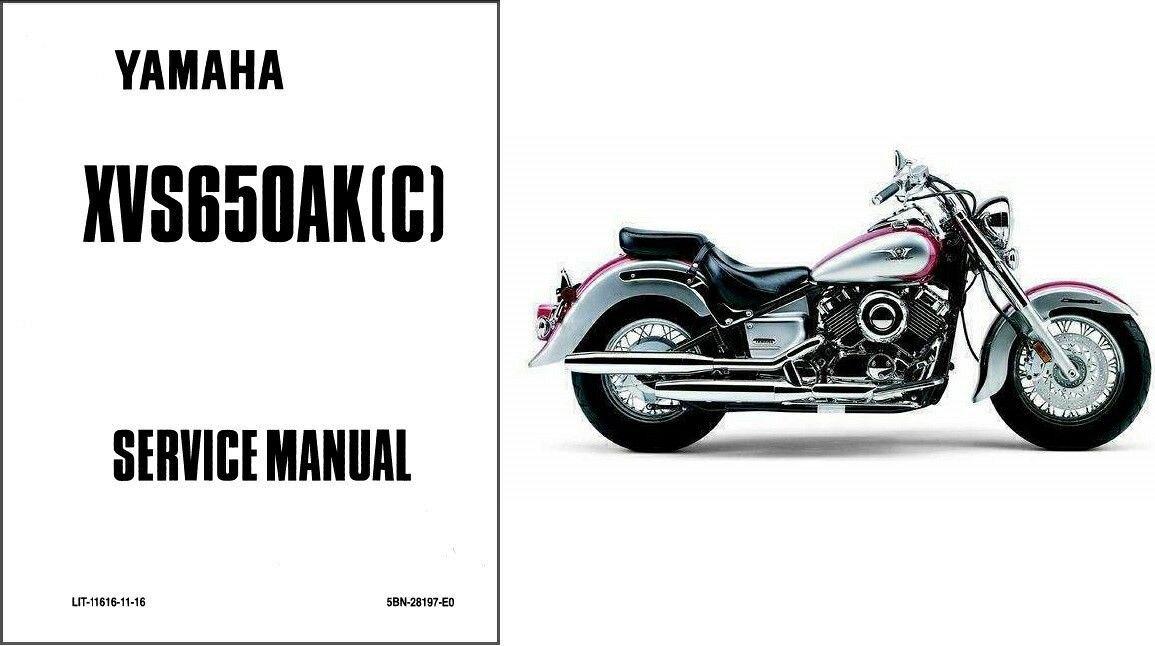 1997-2004 Yamaha V-Star 650 Classic ( XVS650AK ) Service Manual on a CD