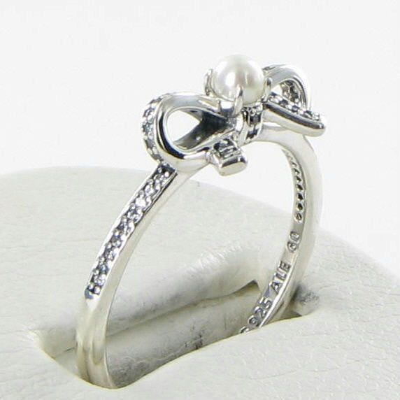 cac57775d Pandora 190971P Ring Sz 7 54 Delicate Sentiments Pearl CZ 925 NEW $65 For  Sale - Item #1705054