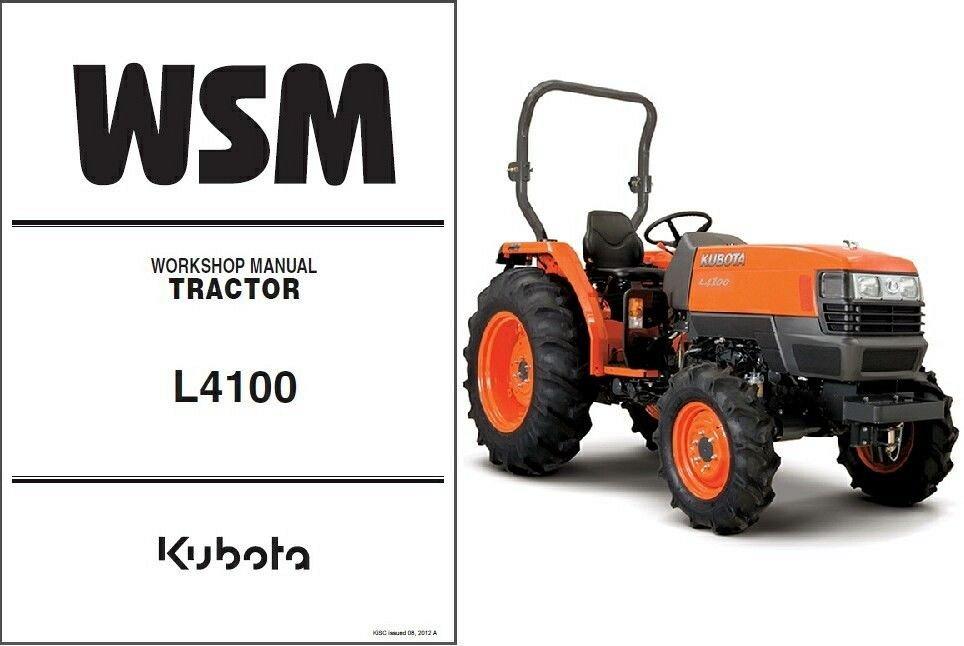 kubota l4100 l4100hst tractor wsm service workshop manual cd l rh unisquare com John Deere GT225 Manual John Deere LT133 Owner's Manual