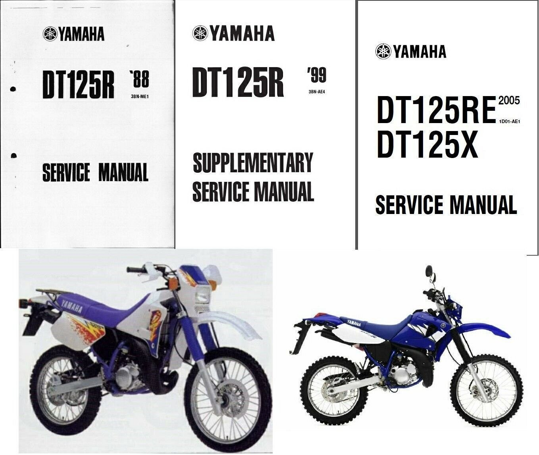 88-07 Yamaha DT125R Service Repair Workshop Manual CD ---- DT 125