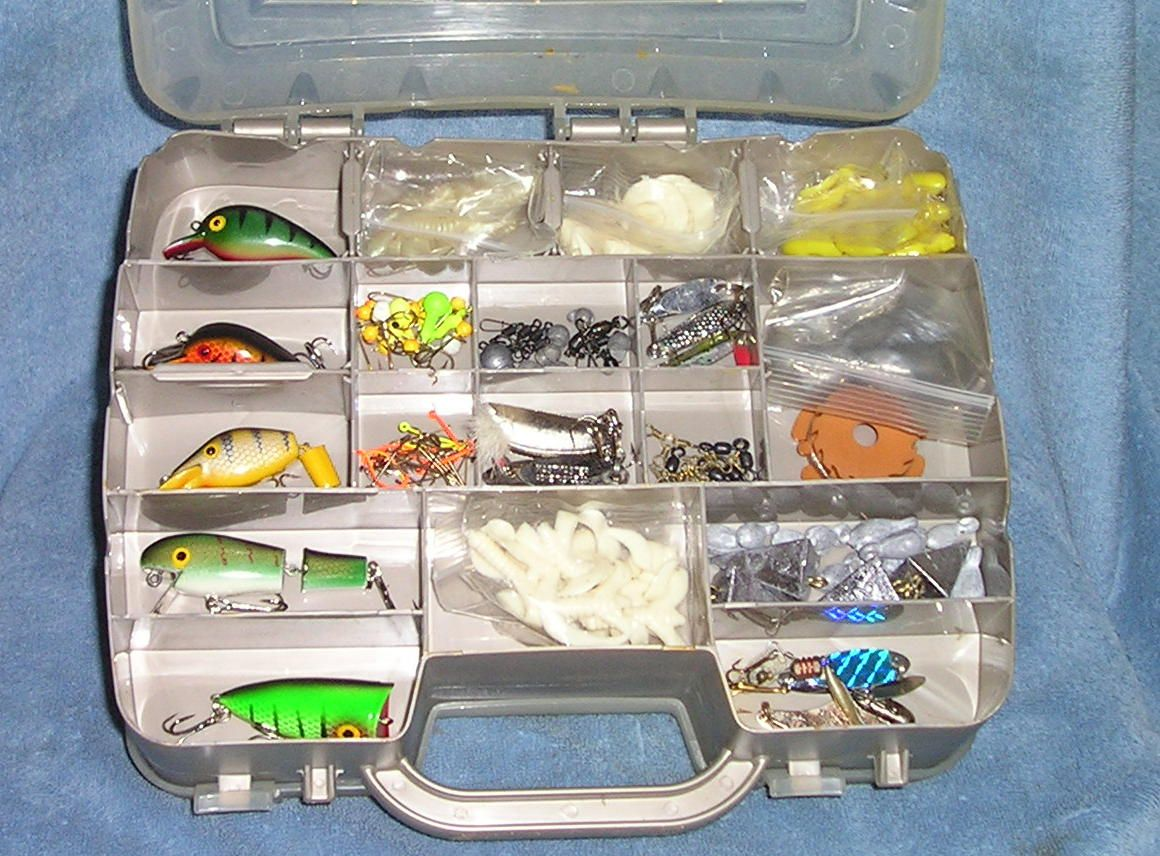 Freshwater fishing tackle 2 side satchel box for sale for Fishing tackle sale