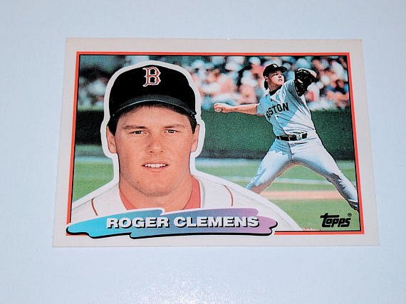 Vintage Roger Clemens Boston Red Sox 1988 Topps Baseball Collectors Card
