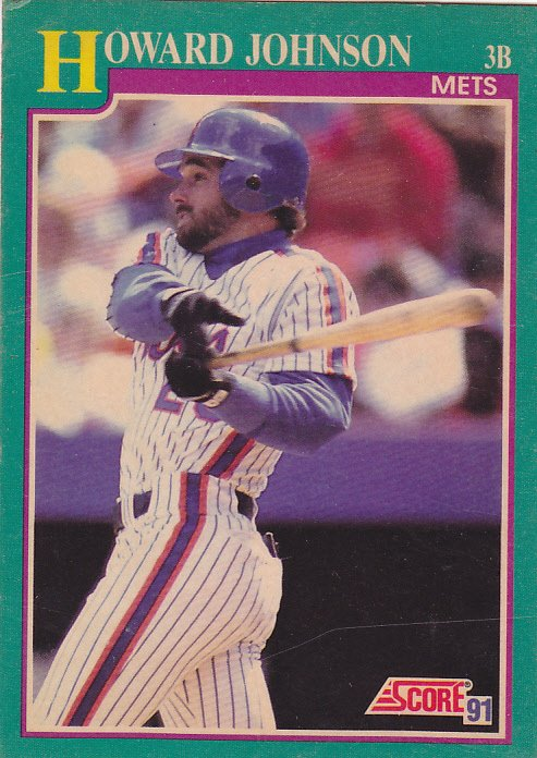 Howard Johnson 185 Mets Score 1991 Baseball Trading Card