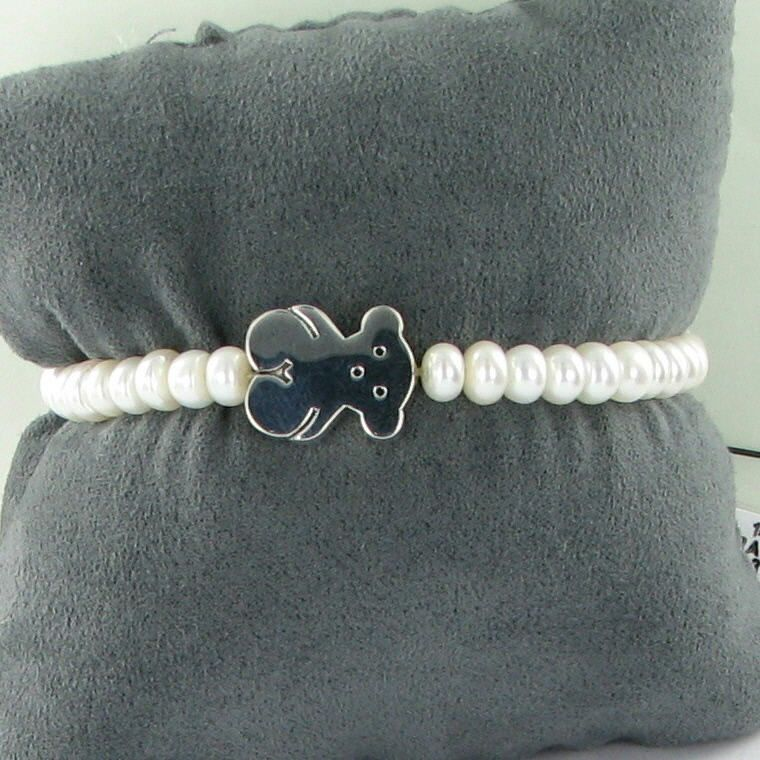 611bc69b8 Tous Sweet Dolls Bracelet Freshwater Pearls Sterling Silver 925 NWT $145  For Sale - Item #1705193