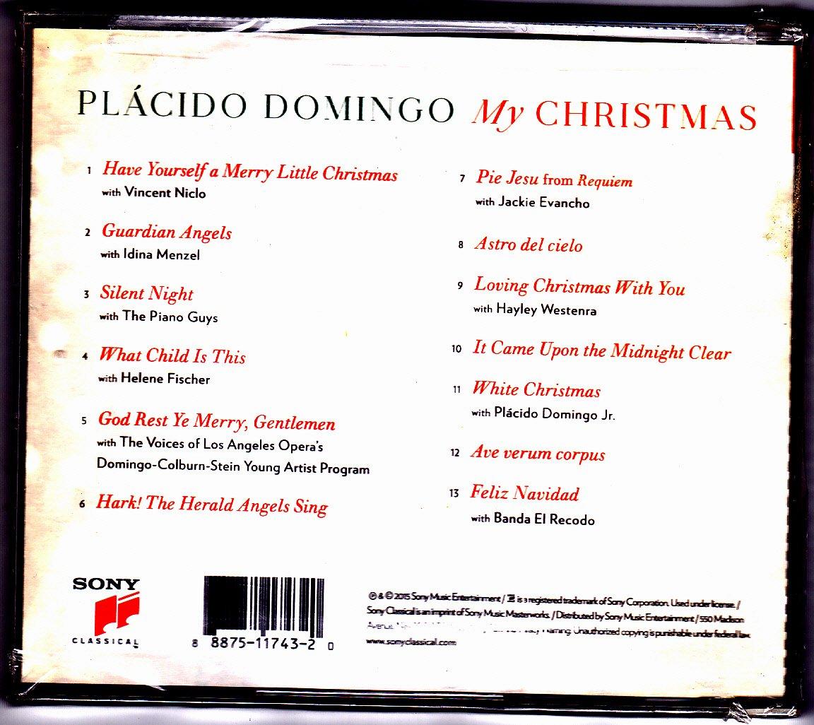 Placido Domingo Feliz Navidad.Placido Domingo My Christmas 2015 Cd Brand New