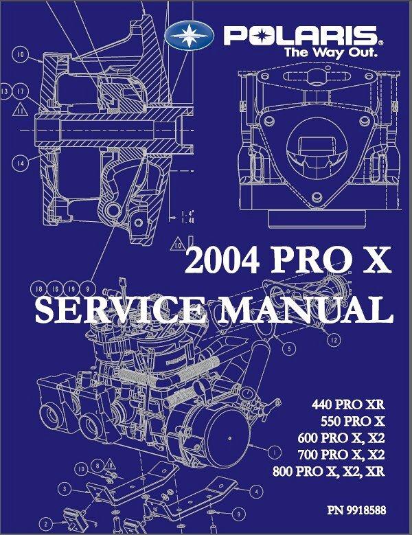2004 Polaris Pro X Snowmobiles 440 550 600 700 800 Service Manual On A CD