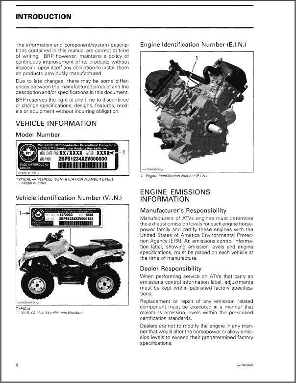 Can-am 2007 outlander 500 xt service manual.