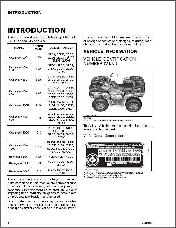 2013 2014 can am outlander x mr renegate 500 650 800r 1000 rh unisquare com can am outlander 1000 service manual free download 2013 can am outlander 1000 xmr service manual