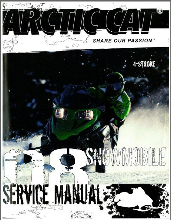 arctic cat snowmobile 2011 120 sno pro repair service manual