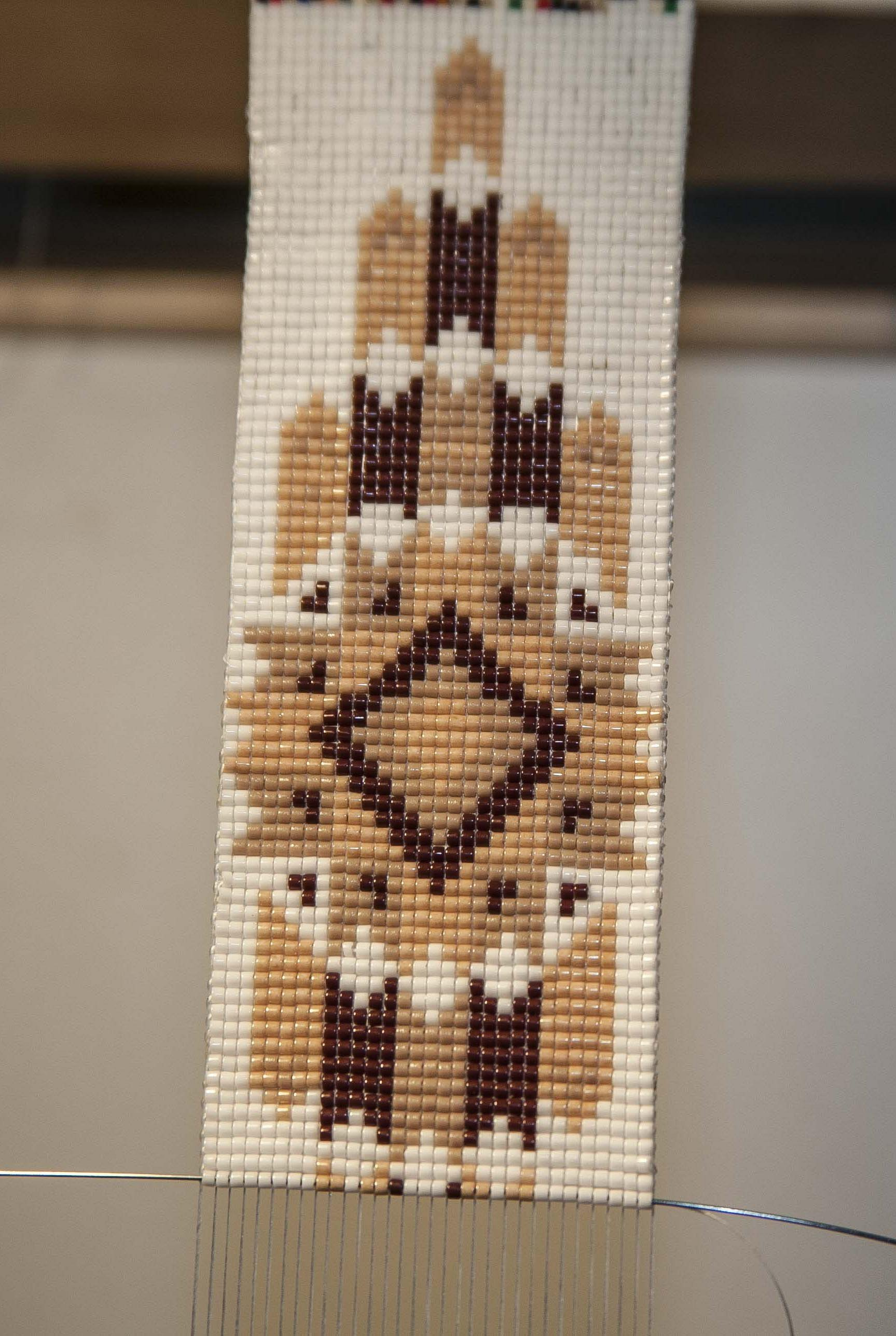 6069fc72da7b45 Cheyenne Native American Style Extra Wide Hat Band Hand Beaded Hatband For  Sale - Item #1819046