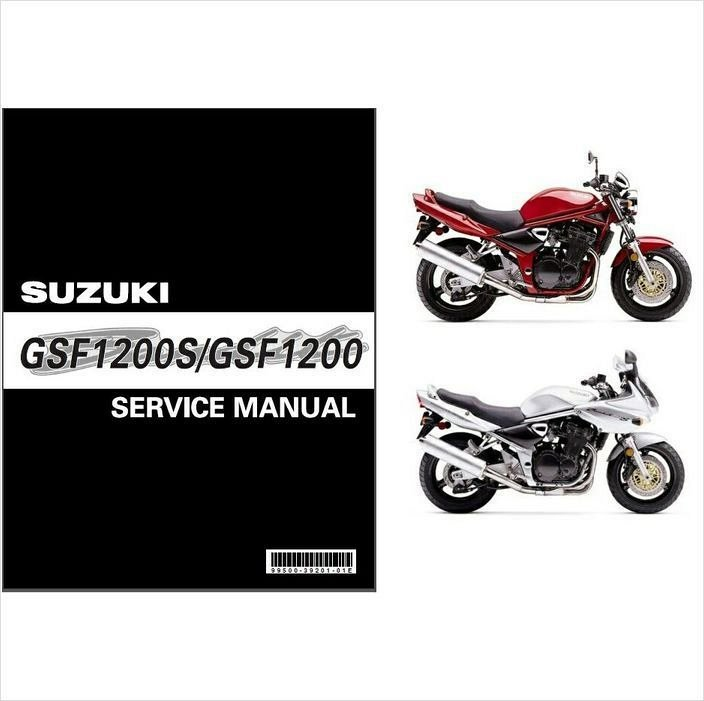 2001 2002 suzuki gsf1200 gsf1200s bandit service manual on a cd rh unisquare com suzuki gsf 1200 bandit repair manual Suzuki GSF 1200 Bandit Problems