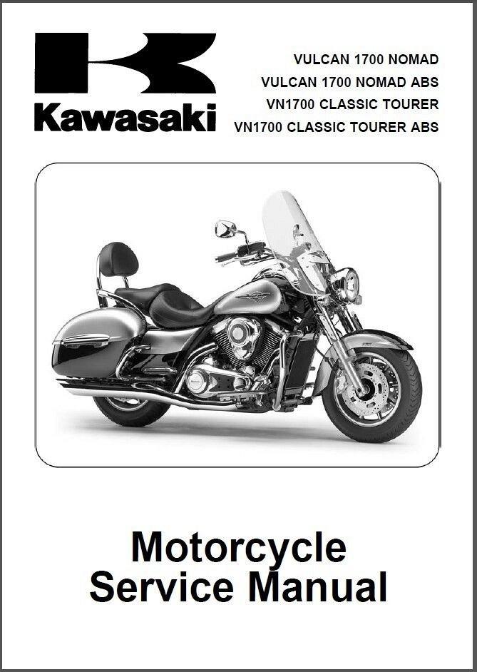 2009-10 Kawasaki Vulcan 1700 Nomad / VN1700 Classic Tourer ABS Service  Manual CD