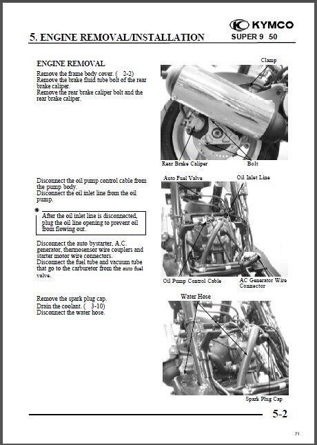 kymco super 8 manual service