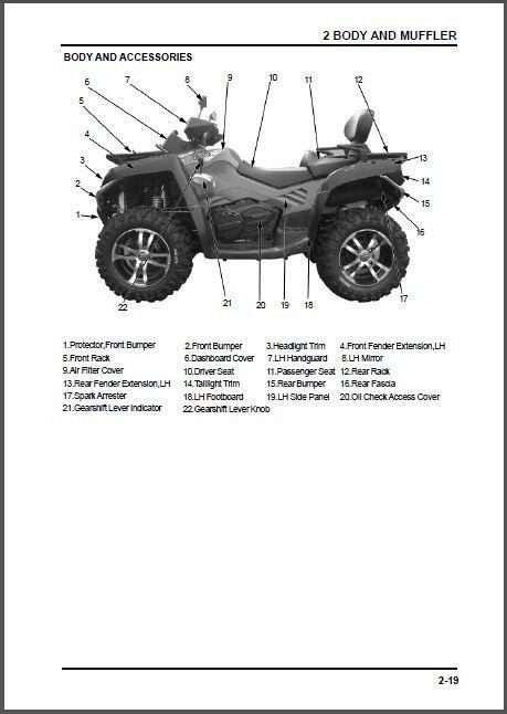 CFMoto X8 Terralander 800 ( CF800-2 ) 4X4 ATV Service Manual on a CD
