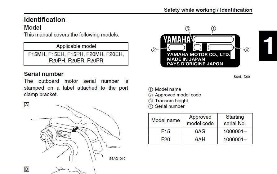 yamaha f15 f20 4 stroke outboard motors service manual on a cd for rh unisquare com yamaha f20 outboard owners manual yamaha f250 manual