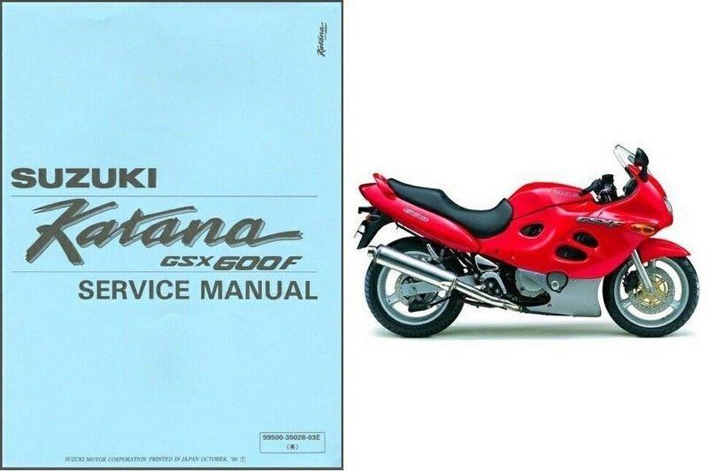 1988 1997 suzuki gsx600f katana 600 service manual on a cd for sale rh unisquare com suzuki katana 750 service manual suzuki katana 1100 service manual