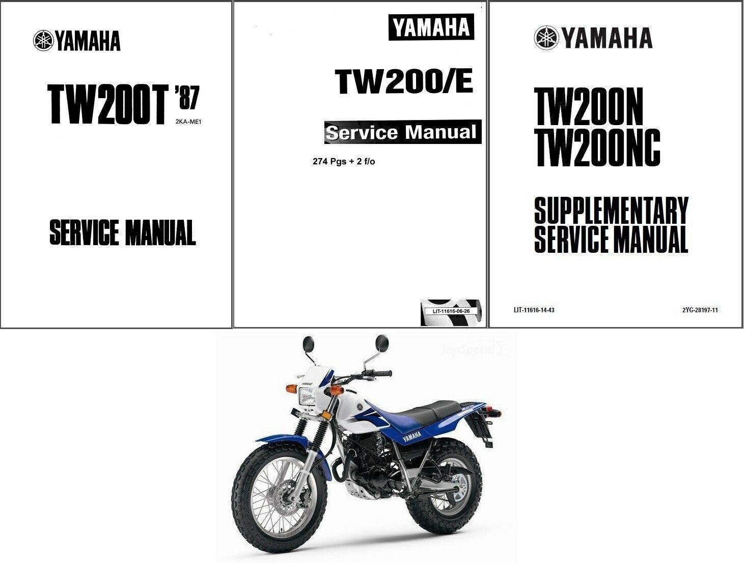 87 14 yamaha tw200 service repair workshop manual cd tw 200 for rh unisquare com 2008 Yamaha TW200 1987 yamaha tw200 repair manual