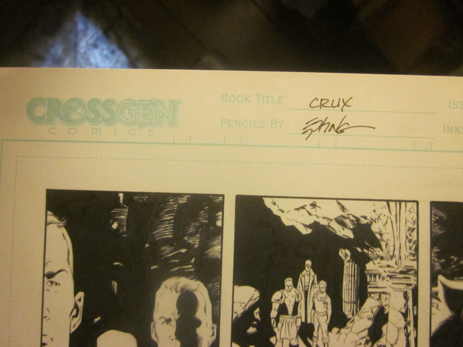 Original Comic Book Artwork CRUX issue 22 Page 10 Steve Epting GREAT ...