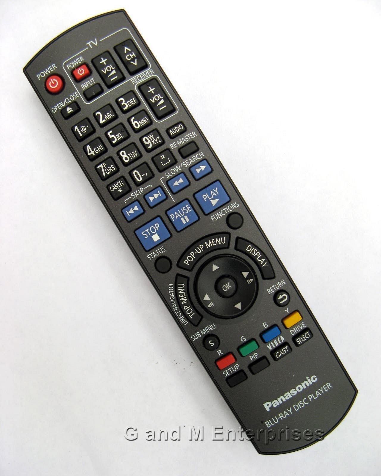 Panasonic N2QAYB000378 remote control - DMP BD60 BD601 BD605 BD80 Blu Ray  player