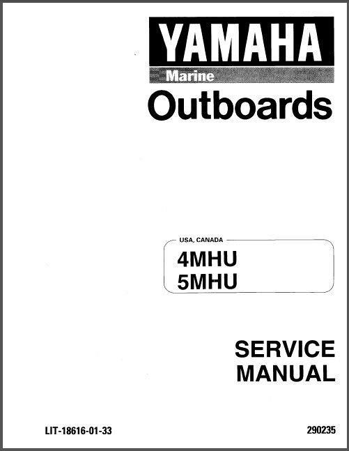 1996 2001 Yamaha 4 5 Hp 4mhu 5mhu 2 Stroke Outboard Service