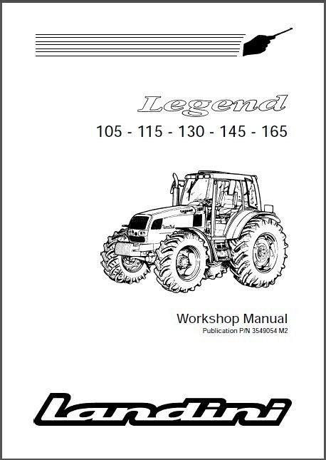 landini legend 105 115 130 145 165 tractor repair service workshop rh unisquare com Landini Parts USA Same Tractor