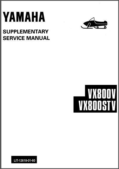 Yamaha V Max 4 750 800 VX750 VX800 MM800 Snowmobile Service Manual CD