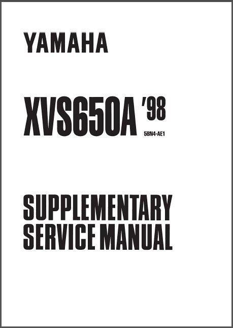 1997 2001 yamaha xvs650 service repair manual download