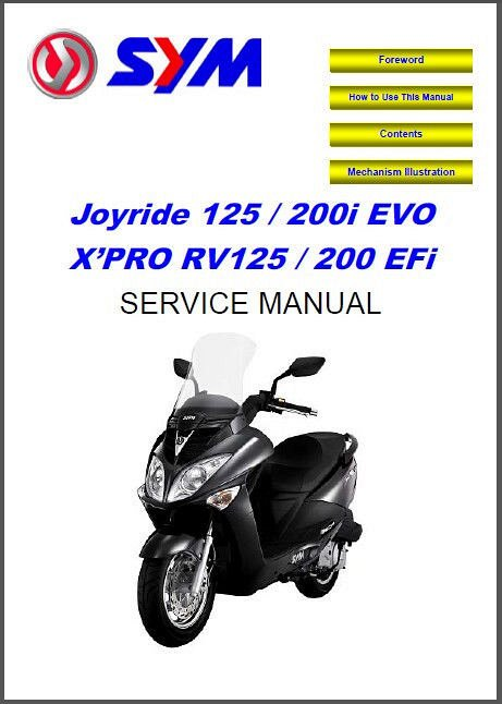 Sym hd 125 200 scooter service repair manual cd for sale.