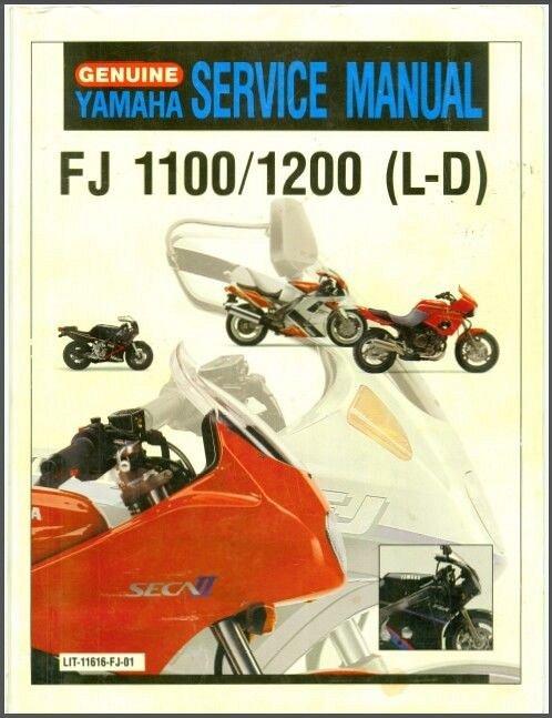 1984 1996 yamaha fj1100 fj1200 service parts manual on a cd for rh unisquare com fj1200 service manual pdf yamaha fj 1200 service manual free