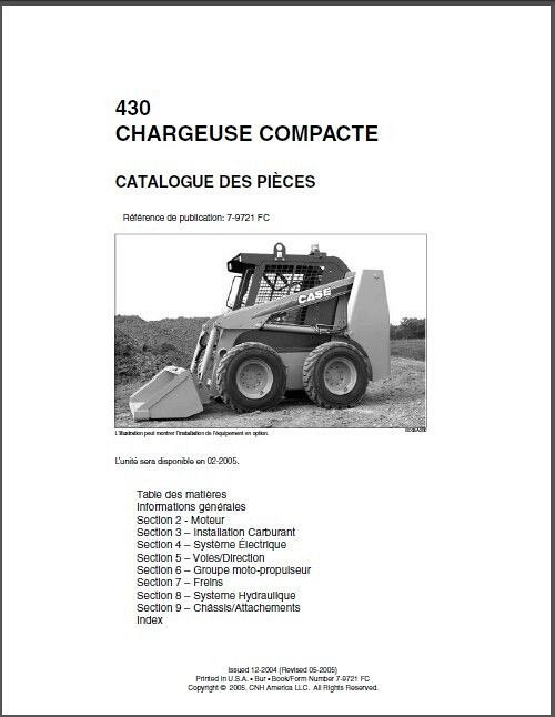 case 430 skid steer loader parts manual cd in english french and rh unisquare com Case 1845C Parts Diagram Mustang Skid Loaders Parts Diagrams