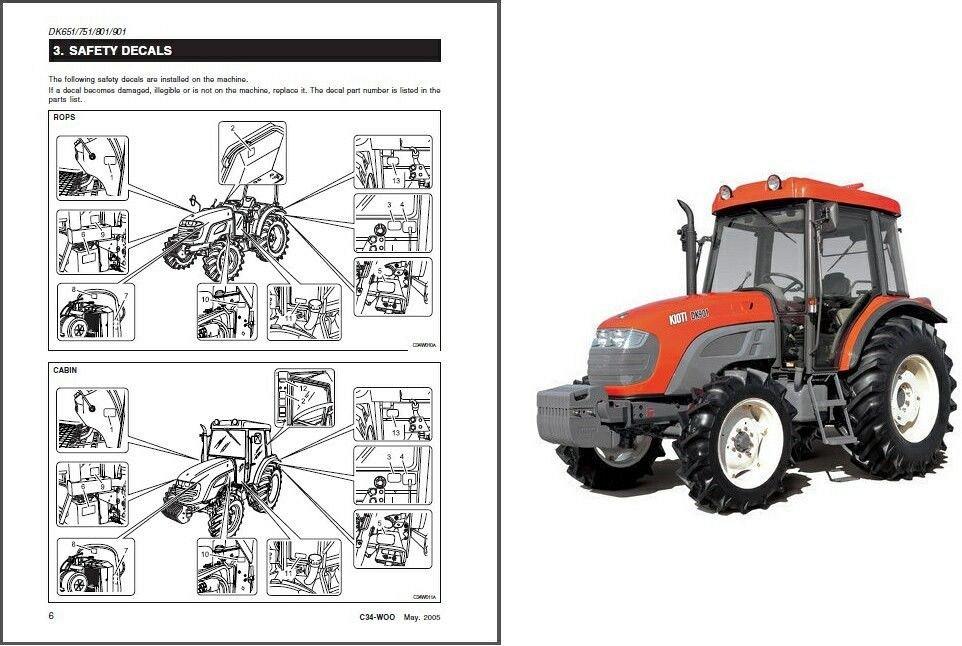 kioti dk651 dk751 dk801 dk901 tractor repair service manual cd dk rh unisquare com Alligator Crawler Tractor Repair Manual Tractor Tires Product