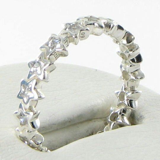 22991fe3d Pandora 190974CZ Ring Sz 5.25 50 Starshine Cubic Zirconia 925 NEW $80 For  Sale - Item #1704301