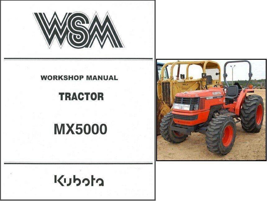kubota mx5000 tractor service repair workshop manual cd mx 5000 Kubota Starter Diagram