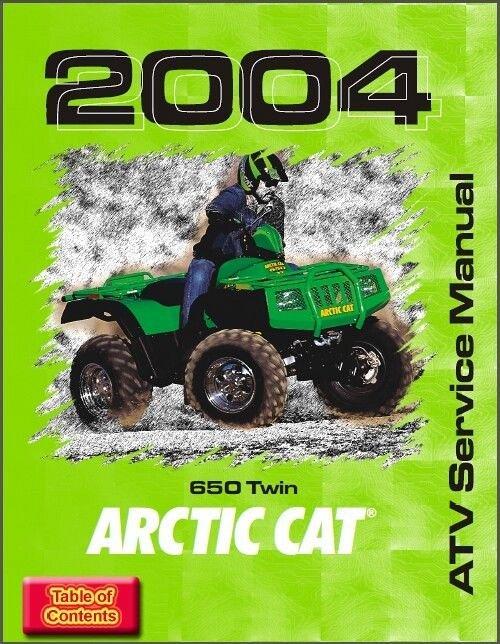2004 arctic cat 650 twin atv service manual on a cd for sale item rh unisquare com 2007 arctic cat 650 h1 repair manual arctic cat atv 650 v2 service manual