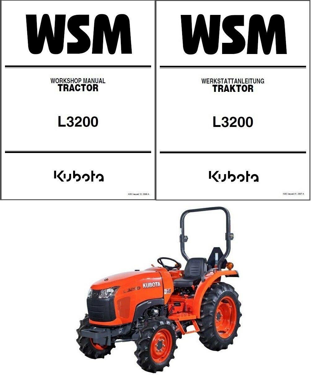 Kubota L3200 Tractor Service Repair Workshop Manual Manual Guide