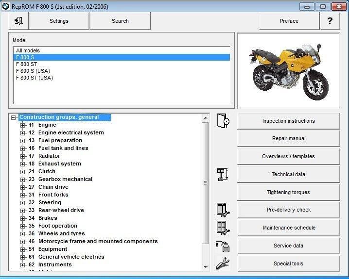 2006  F800st Reprom Service Manual Cd