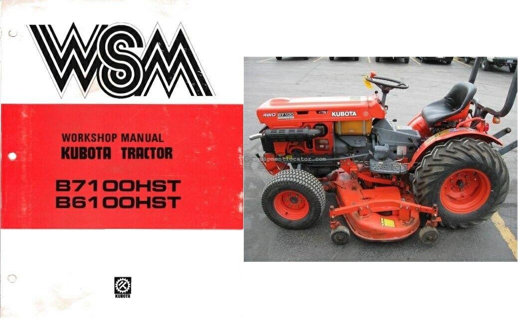kubota b7100hst b6100hst b7100 b6100 hst tractor wsm service rh unisquare com