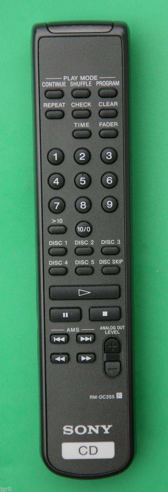 Sony Rm Dc355 Remote Control Cd Changer Cdp C5cs C5csb