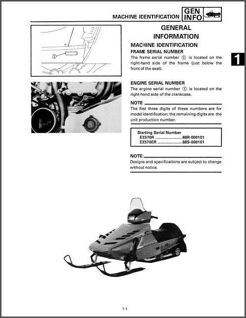 1991 1992 1993 Yamaha Enticer Ll 570 Snowmobile Service Repair Manual CD