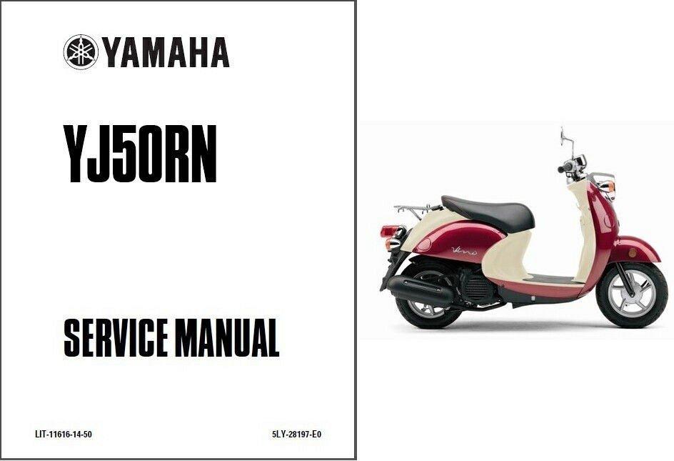 2001 2005 yamaha vino 50 yj50 scooter service manual on a cd rh unisquare com 2001 yamaha vino manual 2013 yamaha vino owners manual